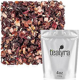 Tealyra - Pina Colada Cocktail Tea - Coconut Hibiscus Fruit Tea - Herbal and Fruity Loose Leaf Tea - No Caffeine - Hot or ...