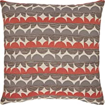 Rivet Mid-Century Graphic Throw Pillow - 17 x 17 Inch, Blue / Red