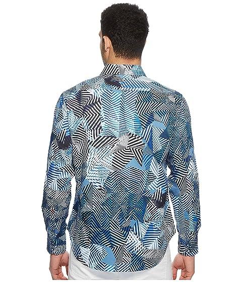 Robert Santos larga camisa de tejida manga Graham azul grTUqng
