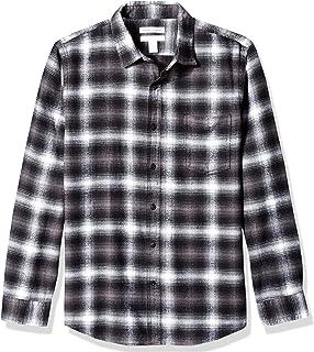 Amazon Essentials Men`s Slim-Fit Long-Sleeve Plaid Flannel Shirt