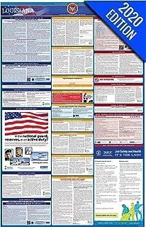 2020 Louisiana Labor Law Poster – State, Federal, OSHA Compliant – Single Laminated Poster