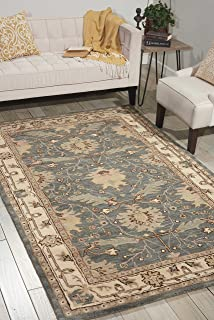 Nourison India House Blue Rectangle Area Rug, 8-Feet by 10-Feet 6-Inches (8' x 10'6