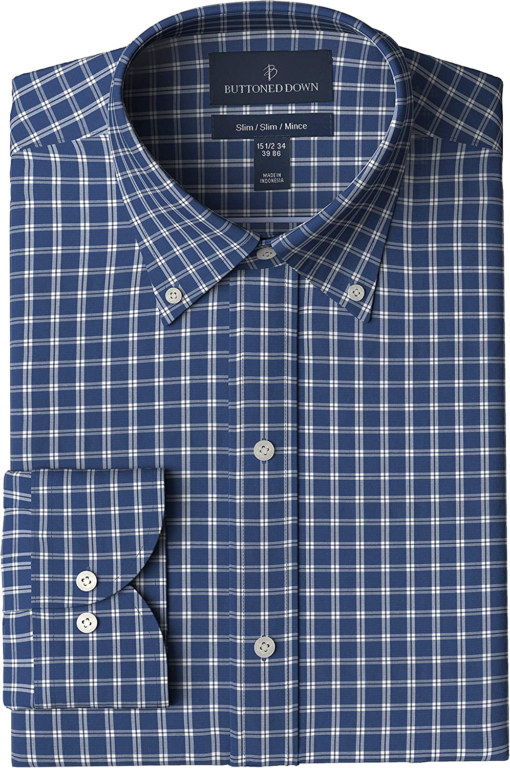 Buttoned Down Men's Slim Fit Pattern Dress オリジナル Button 1着でも送料無料 Collar Shirt