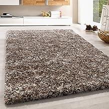 Hoogpolig vloerkleed shaggy tapijt zacht taupe beige mokka room kleurig gemêleerd, kleur:Beige, Groote:200x290 cm