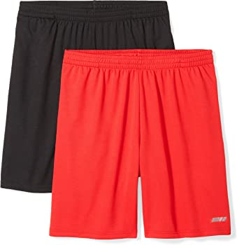 2-Pack Amazon Essentials Mens Loose-Fit Performance Shorts