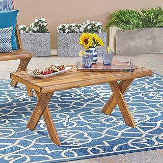 Christopher Knight Home 304412 Irene Outdoor Acacia Wood Coffee Table, Teak, Sandblast Finish