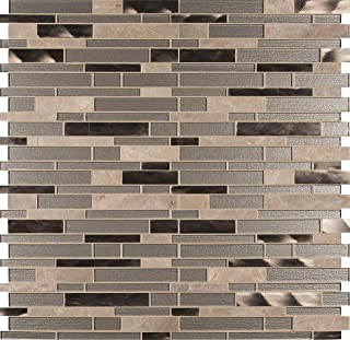 MS International AMZ-MD-00028 Champagne Toast Interlocking Tile 12in. x 12in. Beige 20 Piece