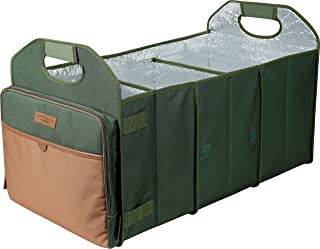 Arctic Zone Trunk Organizer with 35 Can Cooler Insert, Green