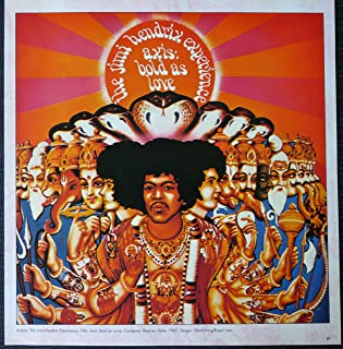 Jimi Hendrix - Axis: Bold As Love - Vintage Album Cover Poster