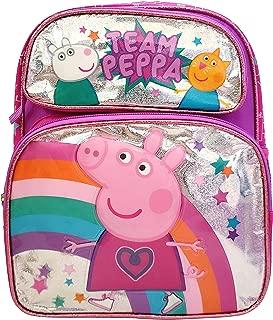 Nickelodeon Peppa Pig Toddler 12 inch Backpack - Metallic Team Peppa