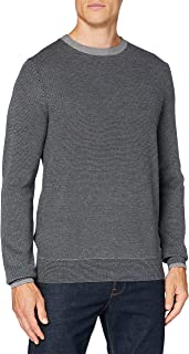 Tommy Hilfiger Men's Textured Two Colour C-nk Cf Sweatshirt