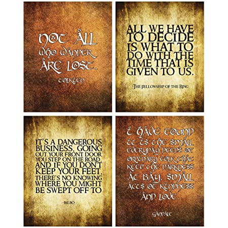 Amazon Com Gandalf All We Have To Decide Giclee Art Print Poster From Typography Drawing By Pop Artist Stephen P 12 X 18 Posters Prints