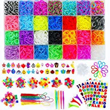 Momo's Den 11910+ Rainbow Rubber Bands Refill Kit, 11000 Loom Bands, 260 Beads, 600 S-Clips, 30 Charms and More, Bracelet ...