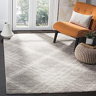Safavieh Lucie Area Rug, Woven Polypropylene Carpet in Light Grey / Ivory, 160 X 230 cm
