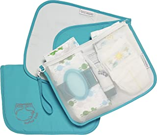 MOTHER LOAD Turquoise Diaper Bag Organizer for Diapers, Wipes and Cream, Machine Washable, Diaper Organizer with Changing Pad & Wrist-let. A Mommy Must Have for All Babies Needs