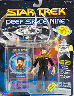 STAR TREK 1994 - Playmates / Paramount Pictures Deep Space Nine - Lt. Thomas Riker in Starfleet Uniform - Numbered Action Figure - with Space Caps - OOP - MOC - Collectible