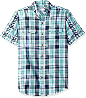 Men's Slim-fit Short-Sleeve Two-Pocket Twill Shirt