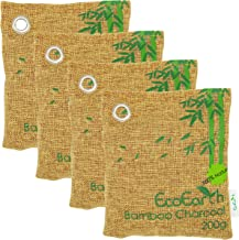 EcoEarth Nature Fresh air Purifier Bags (Premium Tier) (4 Pack: 4x200g), Charcoal Deodorant, Pet Odor Eliminator Bag, Activated Bamboo Charcoal air Purifying Bag for Home, CAR, Shoes, Closet, Kitchen