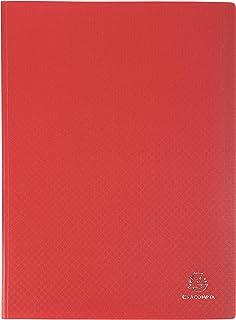 Exacompta 8835E Opak - Portadocumentos (A4, polipropileno, opaco, con fundas interiores lisas de alta transparencia, 30 fundas y 60 vistas), color rojo