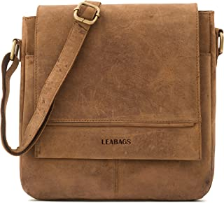 LEABAGS Messenger Bag/Umhängetasche/Schultertasche aus echtem Büffelleder - Unisex - Vintage -Washington