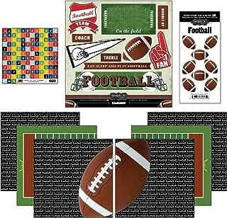 Scrapbook Customs Go Big Football Themed Paper and Stickers Scrapbook Kit