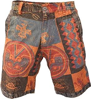 Pantalones Cortos de algod/ón para Hombre dise/ño Hippie Bohemio Gheri
