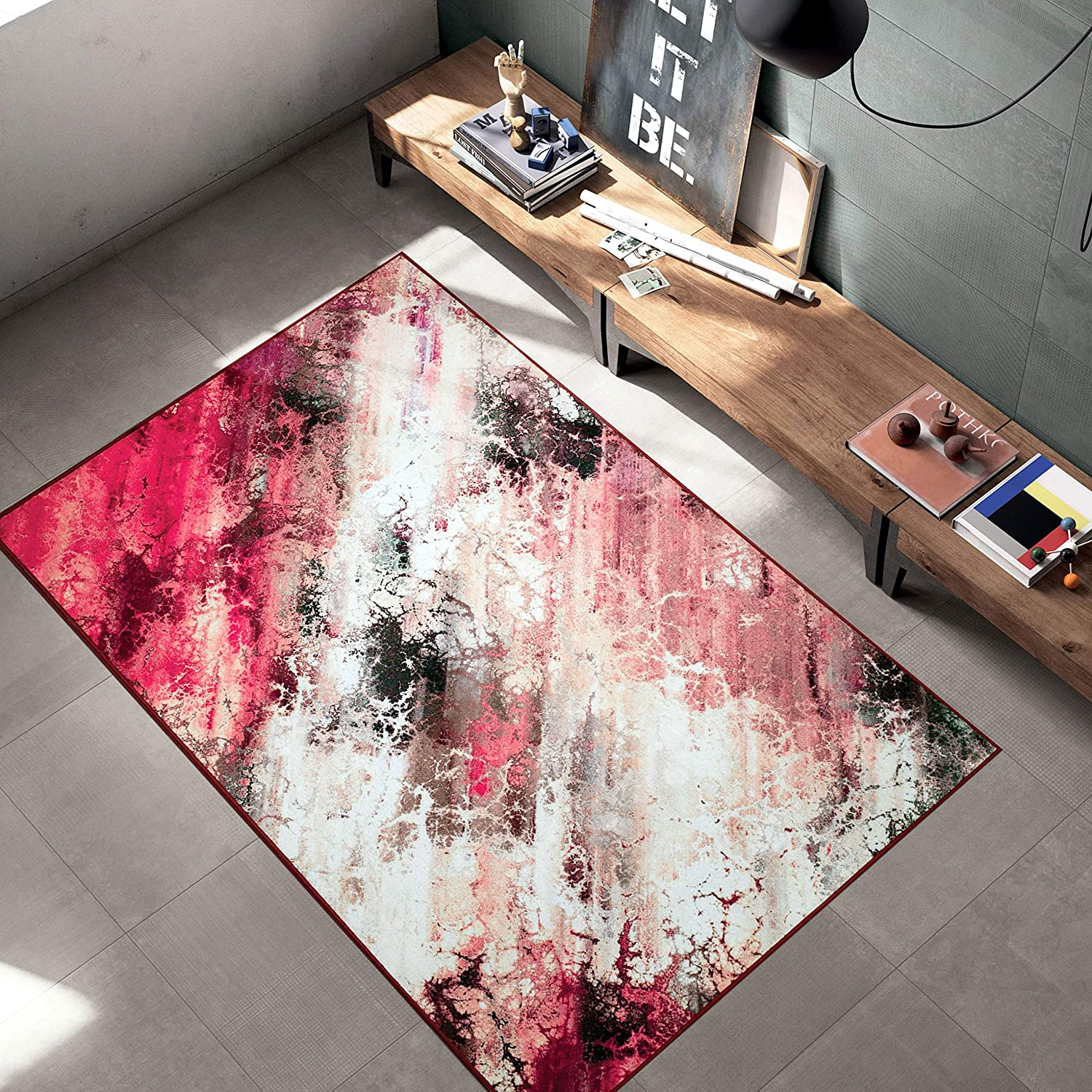 Woven Trends Contemporary and Modern Max 72% OFF Galaxy Abstra 047 Rug Online limited product Area