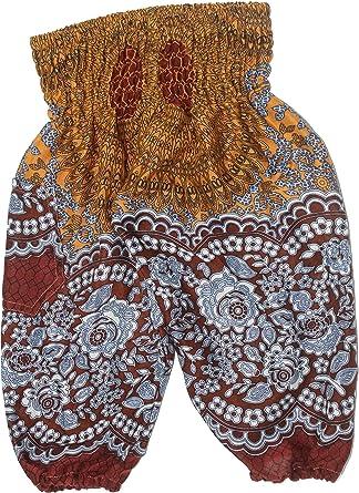 Lofbaz Kinder Hippie Boho Hose Aladdin Pirate Bohemian Baggy Hosen