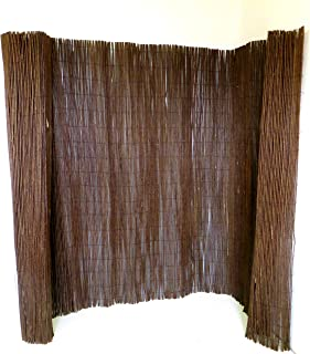 Master Garden Products WF Screen, 6 by 14-Feet Willow Fencing, 6'H x 14'W, Brown