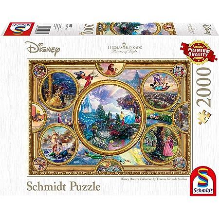 Schmidt Spiele- Thomas Kinkade Disney Dreams Collection Puzzle 2000 pièces, 59607, coloré