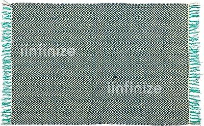 Alfombra de yute hecha a mano estilo indio, reversible, hecha a ...