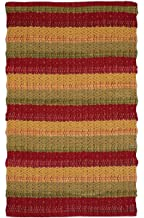 Cotton Rugs in Diamond Weave 24x36 inch Red Combo,Cotton Area Rugs,Indoor Out Door Rugs 2'x3',Rugs for Living Room, Machin...