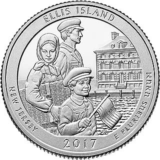 2017 S Silver America the Beautiful Ellis Island Quarter Proof