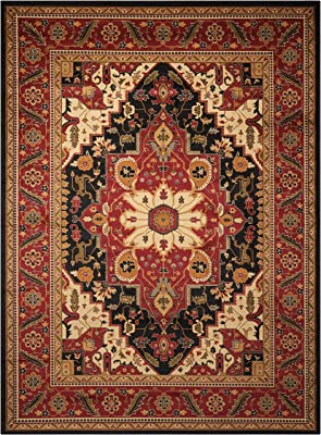"""Nourison Paramount Collection Black Area Rug, 7 feet 10 Inches by 10 feet 6 Inches (7'10"""" x 10'6"""" )"""