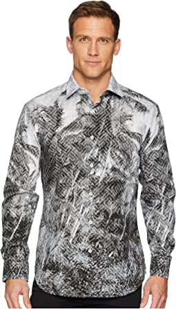 Shaped Fit Geo Palm Woven Shirt