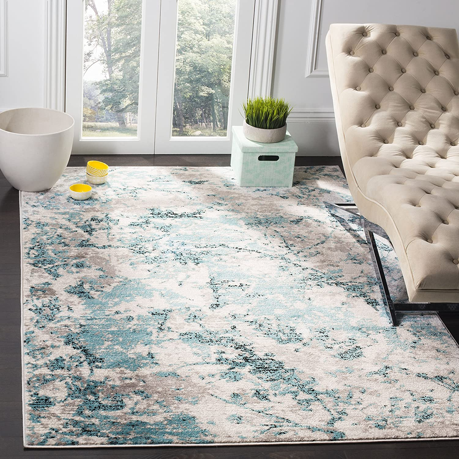Safavieh Skyler Collection SKY186M Cash special price Max 76% OFF Non-Shedding Modern Abstract