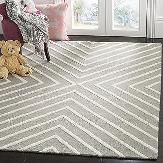 Safavieh Kids Collection SFK920C Handmade Grey and Ivory X-Pattern Wool Area Rug (5