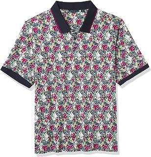 Perry Ellis Men's Big & Tall Short Sleeve Printed Floral 3Bt B&T Polo Shirt