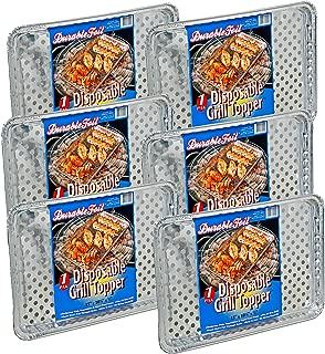 """Set of 6 Durable Foil Disposable Deep Grill Topper Pans 11 3/4"""" L x 9 1/4"""