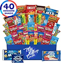 My College Crate - 40 Piece Small Care Package - Snack Box Variety Pack for Adults - Bulk Food Box with Candy, Chips, Granola Bars, Nuts, Pop Tarts