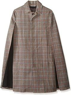 Men's Glen Plaid Coat with Cape