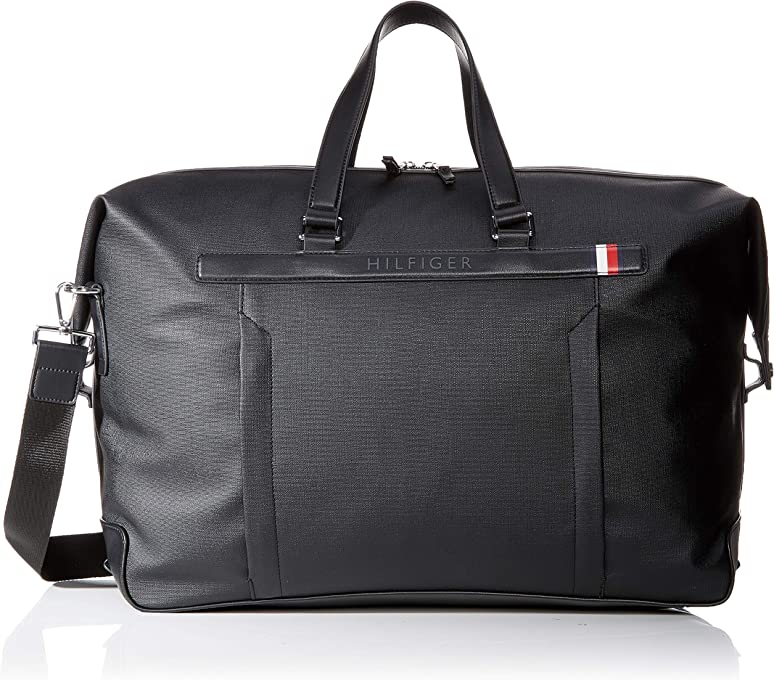 Tommy Hilfiger Men's Medium Duffel Bag Medium Duffel Bag, Black, One Size