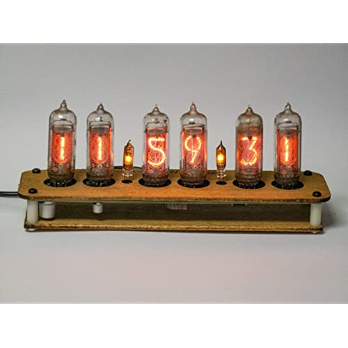 NOS IN-14 Tubes!!! Amazing Vintage!! Fully Assembled Steampunk Nixie Clock