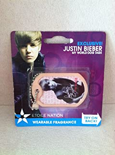 EXCLUSIVE Justin Bieber MY WORLD WEARABLE FRAGRANCE DOG TAGS - TOUR STYLE!
