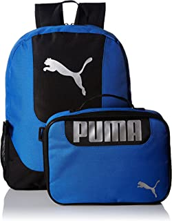 PUMA Big Kid's Lunch Box Backpack Combo, blue/black, OS