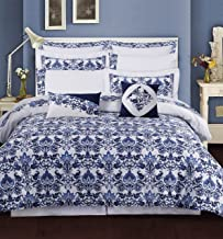 Tribeca Living Catalina Cotton 12 Piece Bedding Set, Queen