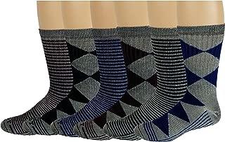 6 Pairs Pack Men's 71% Merino Wool Hiking Boot Socks 10-13