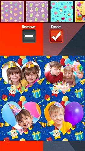 Collage de la fiesta de cumpleaños