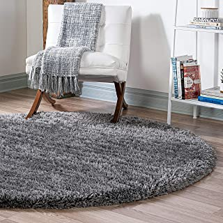 Infinity Collection Solid Shag Round Rug by Rugs.com –...