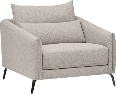 "Amazon Brand – Rivet Berkshire Modern Living Room Accent Chair, 37""W, Grey"